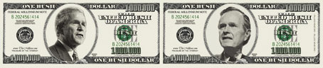 Blowout SALE: a Bush Dollar Bill for ONLY $0.55 each