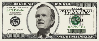 Too Cool to be True: One Bush Dollar Bill for ONLY $0.55